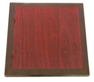 Resin Mahogany/Walnut Square Table Top Picture 1