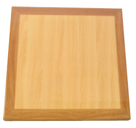 Resin Natural/Oak Square Table Top Picture 1