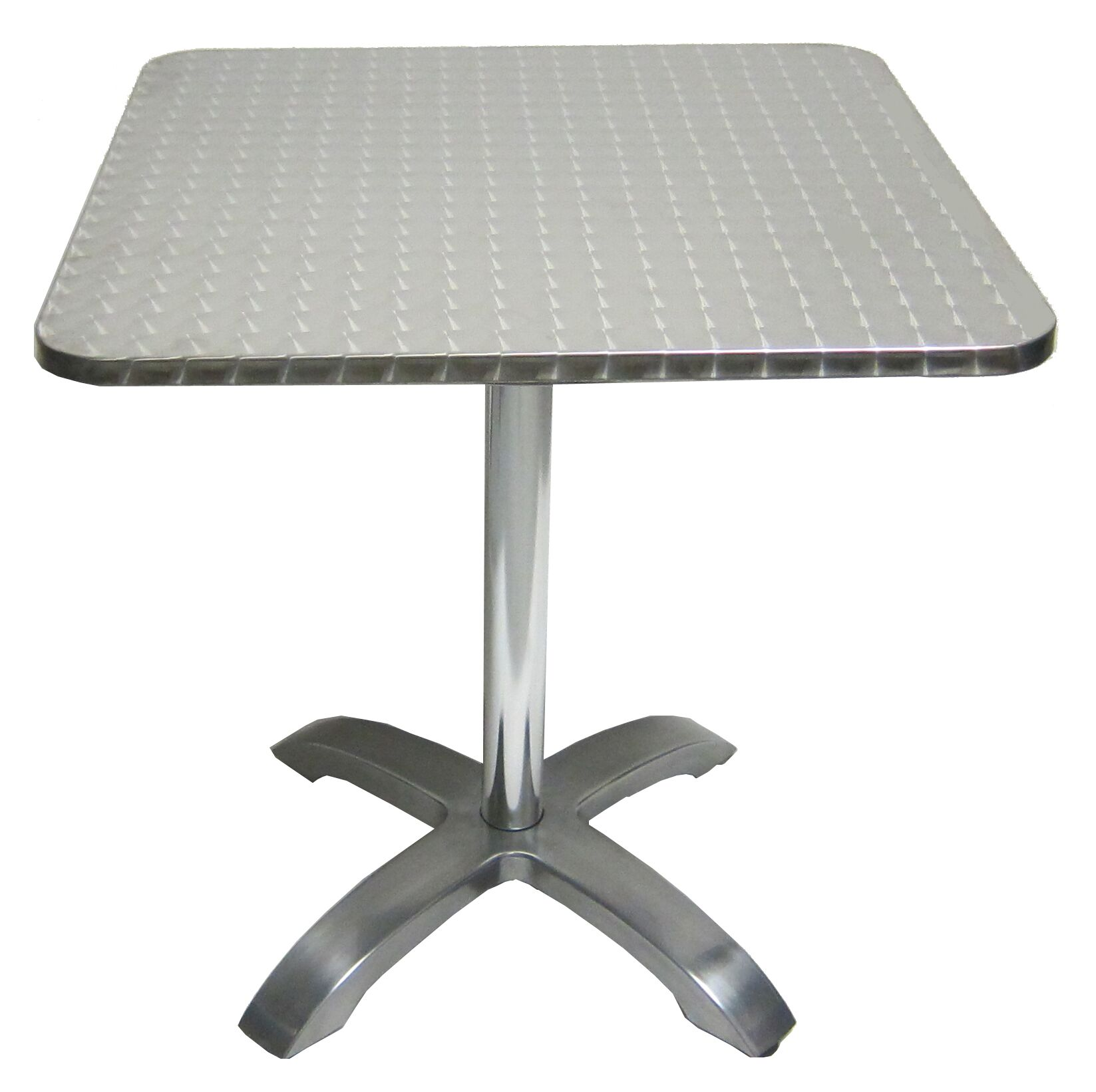 Stainless Aluminum Square Indoor Outdoor Bar Table Picture 1