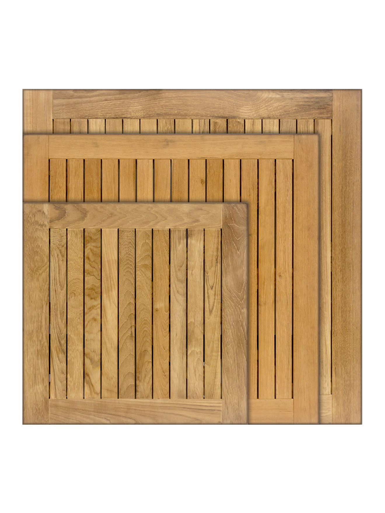 Real Teak Wood Square Indoor/Outdoor Table Top Picture 1